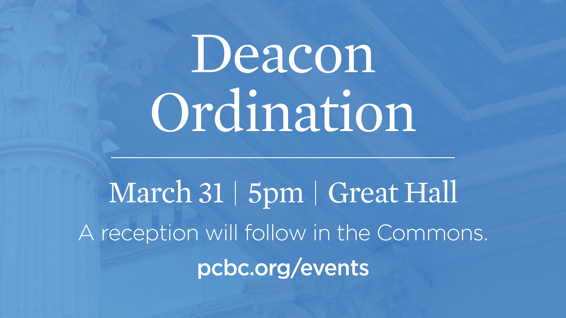 Deacon Ordination Service