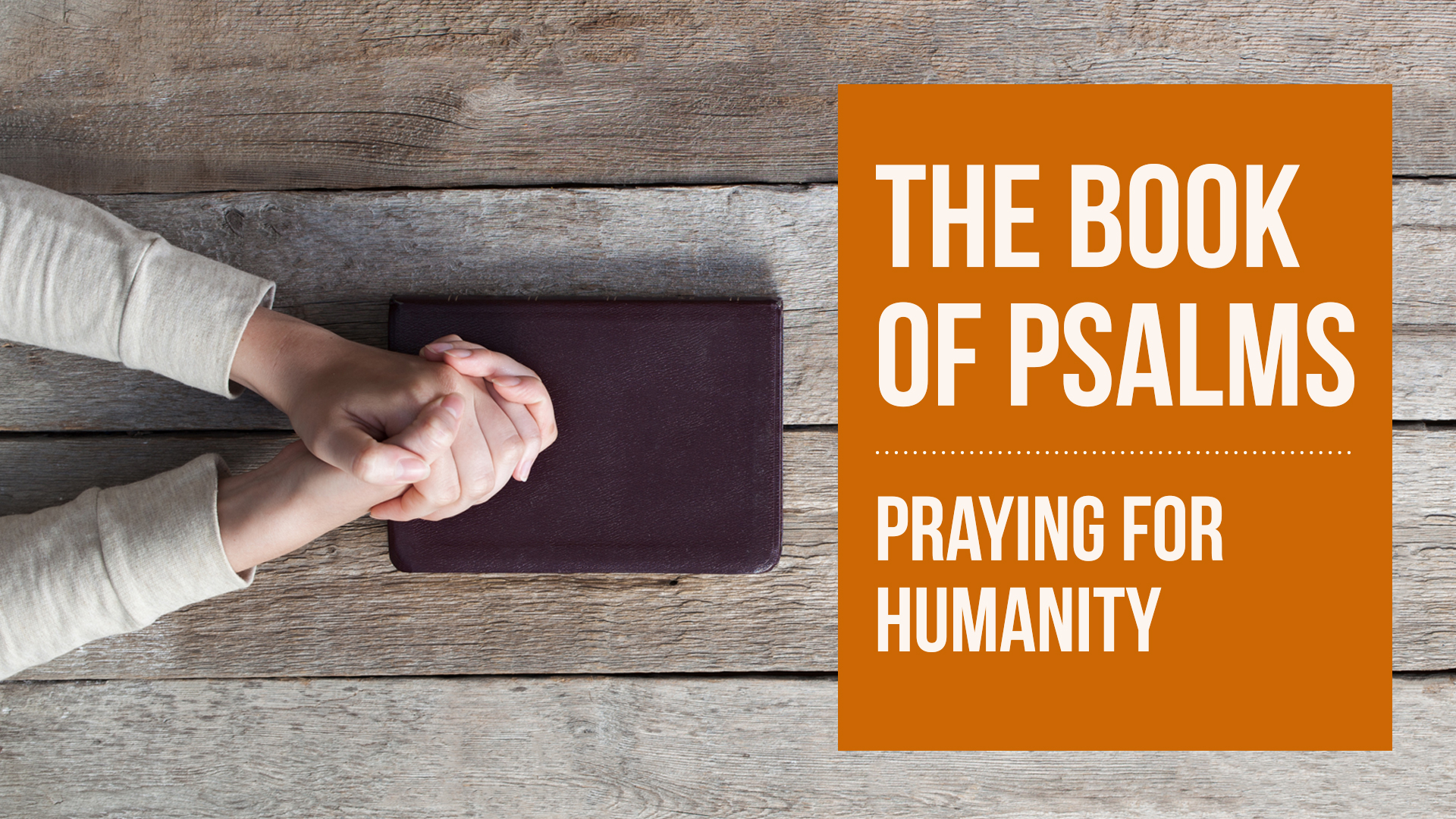 The Book of Psalms: Praying for Humanity
